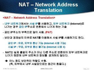 NAT Network Address Translation IP address Class A