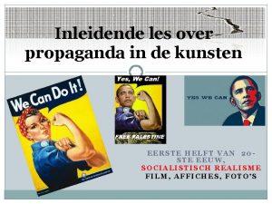 Inleidende les over propaganda in de kunsten EERSTE