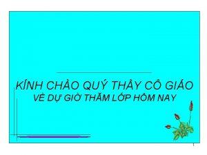 KNH CHO QU THY C GIO V D