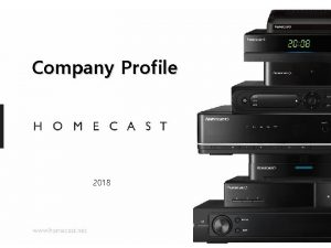 Company Profile 2018 Contents Brief Introduction Milestone Great