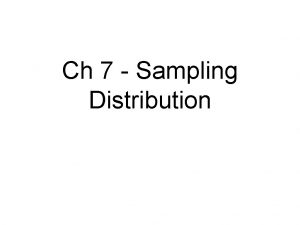 Ch 7 Sampling Distribution Vocabulary Population review Sample