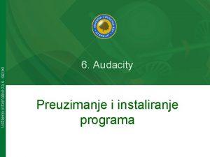 Udbenik informatike za 6 razred 6 Audacity Preuzimanje