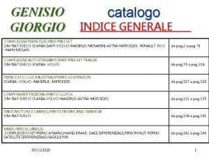 GENISIO GIORGIO catalogo INDICE GENERALE COMPLESSIVI PERNI FUSI