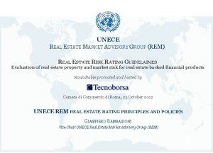 UNECE REAL ESTATE MARKET ADVISORY GROUP REM REAL