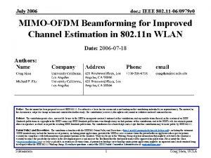 July 2006 doc IEEE 802 11 060979 r