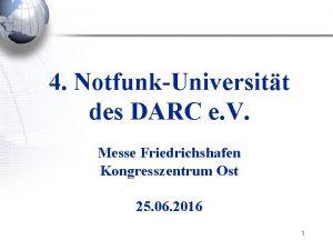 4 NotfunkUniversitt des DARC e V Messe Friedrichshafen