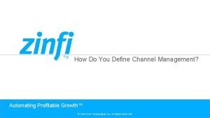 How Do You Define Channel Management Automating Profitable