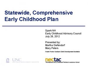 Statewide Comprehensive Early Childhood Plan Spark NH Early