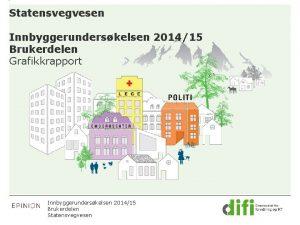 Statensvegvesen Innbyggerunderskelsen 201415 Brukerdelen Grafikkrapport Innbyggerunderskelsen 201415 Brukerdelen