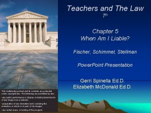 Teachers and The Law 7 th Chapter 5