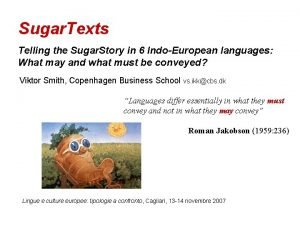 Sugar Texts Telling the Sugar Story in 6