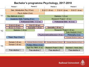 Bachelors programme Psychology 2017 2018 Period 2 Period