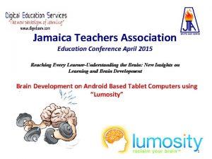 Jamaica Teachers Association Education Conference April 2015 Reaching