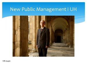 New Public Management i UH NTL 15 9