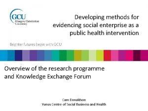 Developing methods for evidencing social enterprise as a