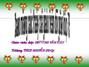 Giao vien day TRNG VN T Trng THCS