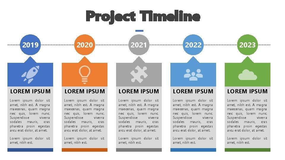 Project Timeline 2019 2020 2021 2022 2023 LOREM