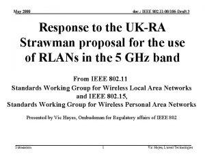 May 2000 doc IEEE 802 11 00106 Draft