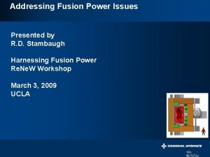 Addressing Fusion Power Issues Presented by R D