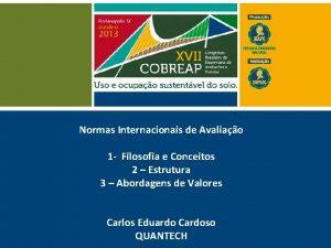 Normas Internacionais de Avaliao 1 Filosofia e Conceitos