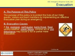 600 Emergency Response Guide 640 Evacuation Emergency Action