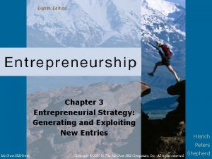 Chapter 3 Entrepreneurial Strategy Generating and Exploiting New