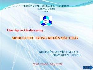 TRNG I HC BCH KHOA TPHCM KHOA C