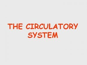 THE CIRCULATORY SYSTEM Introduction The circulatory system is