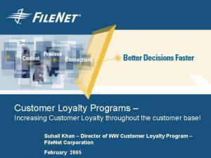 Customer Loyalty Programs Increasing Customer Loyalty throughout the