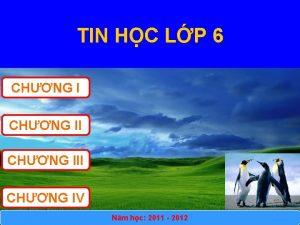 TIN HC LP 6 CHNG III CHNG IV
