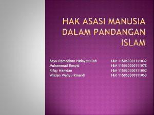 Bayu Ramadhan Hidayatullah Muhammad Rosyid Rifqy Hamdan Wildan