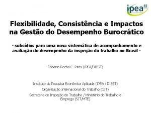Flexibilidade Consistncia e Impactos na Gesto do Desempenho
