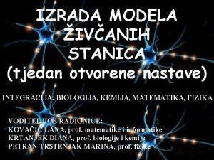 IZRADA MODELA IVANIH STANICA tjedan otvorene nastave INTEGRACIJA