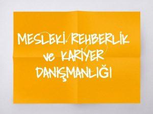 MESLEK REHBERLK ve KARYER DANIMANLII 1 UYGULAMAETKNLK RNEKLER