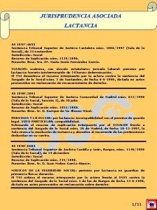 JURISPRUDENCIA ASOCIADA LACTANCIA AS 19974655 Sentencia Tribunal Superior
