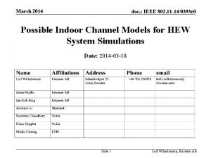 March 2014 doc IEEE 802 11 140393 r