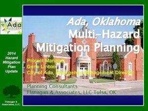 Ada Oklahoma 2014 Hazard Mitigation Plan Update MultiHazard