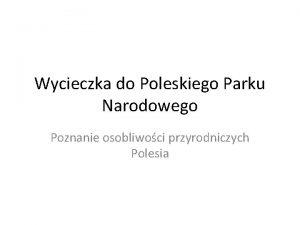 Wycieczka do Poleskiego Parku Narodowego Poznanie osobliwoci przyrodniczych