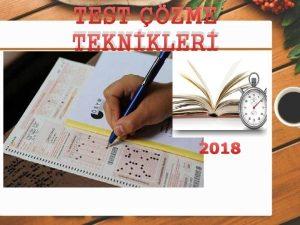TEST ZME TEKNKLER 2018 TEST ZME TEKNKLER YGS