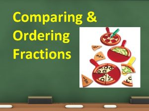 Comparing Ordering Fractions Comparing Ordering Fractions Please do