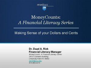 Money Counts A Financial Literacy Series Making Sense