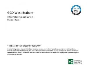 GGD West Brabant Informatie Invoice Sharing 01 mei