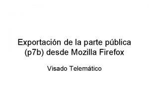 Exportacin de la parte pblica p 7 b