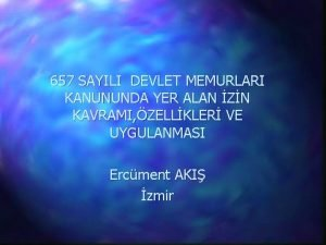 657 SAYILI DEVLET MEMURLARI KANUNUNDA YER ALAN ZN
