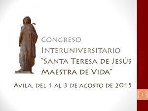 1 Santa Teresa de Jess Maestra de Vida