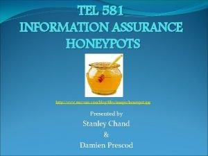 TEL 581 INFORMATION ASSURANCE HONEYPOTS http www easyvmx