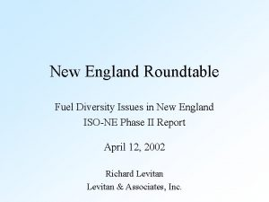 New England Roundtable Fuel Diversity Issues in New