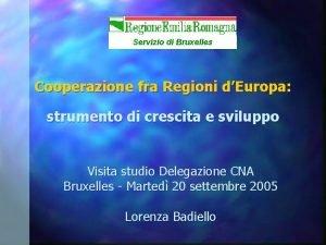 Servizio di Bruxelles Cooperazione fra Regioni dEuropa strumento