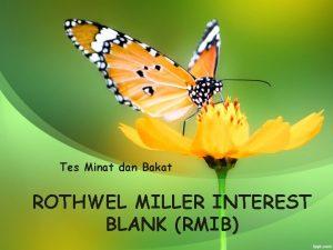 Tes Minat dan Bakat ROTHWEL MILLER INTEREST BLANK