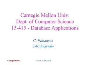 Carnegie Mellon Univ Dept of Computer Science 15